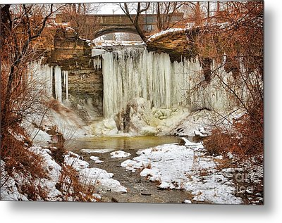 January Melt At Wequiock Falls  Metal Print
