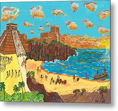 January Pyramid By The Bay Metal Print