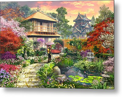 Japan Garden Variant 2 Metal Print by Dominic Davison