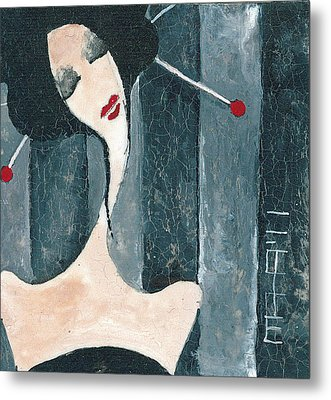Japanese Beauty Metal Print