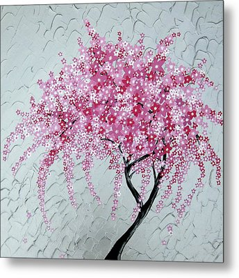 Japanese Cascade Metal Print by Cathy Jacobs
