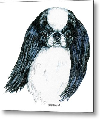 Japanese Chin Metal Print