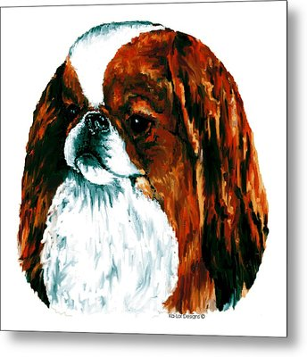 Japanese Chin, Sable Metal Print