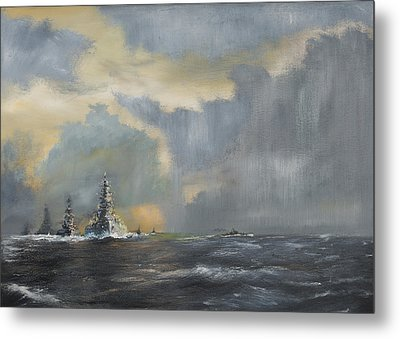 Japanese Fleet In Pacific Metal Print by Vincent Alexander Booth