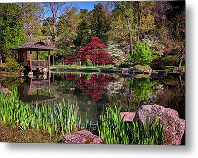 Metal Print featuring the photograph Japanese Garden At Maymont by Rick Berk