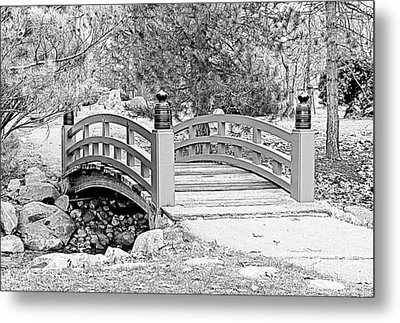 Metal Print featuring the photograph Japanese Garden by Rodney Campbell
