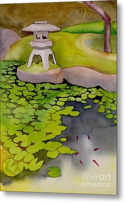Metal Print featuring the painting Japanese Garden by Yolanda Koh