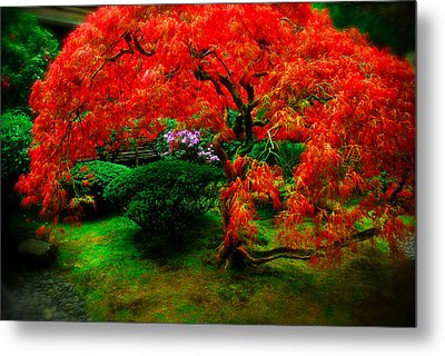 Japanese Gardens Portland Metal Print by Craig Perry-Ollila