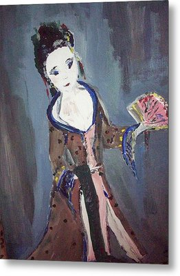 Metal Print featuring the painting Japanese Lady by Judith Desrosiers