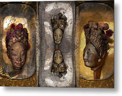 Japanese Puppets Metal Print by Jeff Burgess