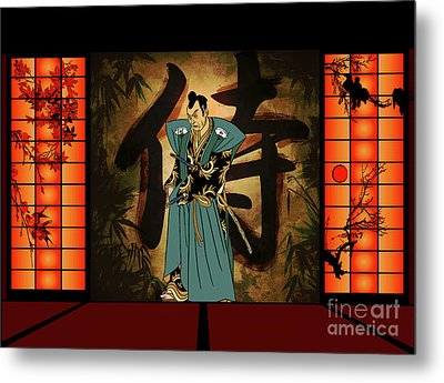 Metal Print featuring the drawing Japanese Style by Andrzej Szczerski