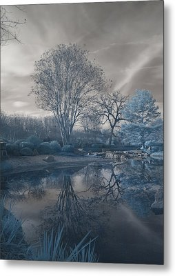 Metal Print featuring the photograph Japanese Tea Garden Infrared Left by Joshua House