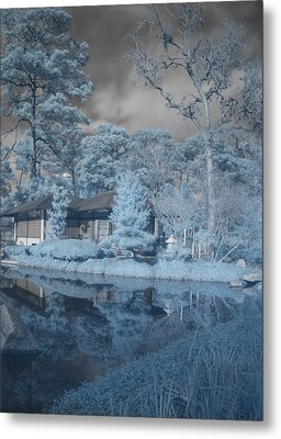 Metal Print featuring the photograph Japanese Tea Garden Infrared Right by Joshua House