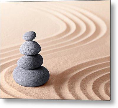 Japanese Zen Meditation Garden Metal Print