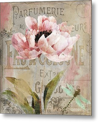 Jardin Rouge I Metal Print by Mindy Sommers