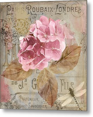 Jardin Rouge II Metal Print by Mindy Sommers