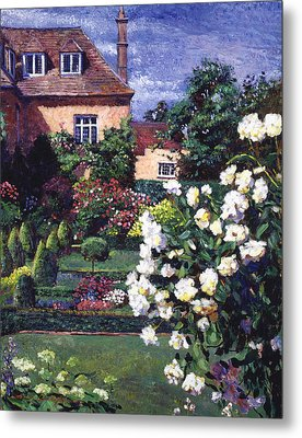 Jardin De Chateau Metal Print by David Lloyd Glover