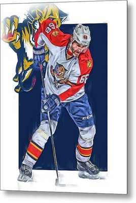 Jaromir Jagr Florida Panthers Oil Art Series 3 Metal Print