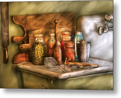 Jars - The Process Of Canning Metal Print by Mike Savad
