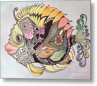 Jasmine The Fish Metal Print