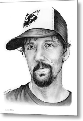 Jason Mraz Metal Print by Greg Joens