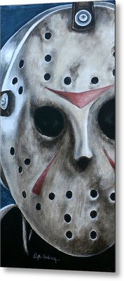 Metal Print featuring the painting Jason Up Close And Personal  by Al  Molina