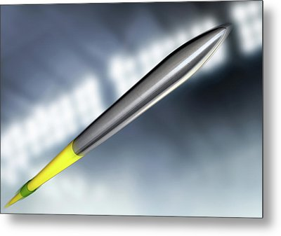Javelin In Night Stadium Metal Print