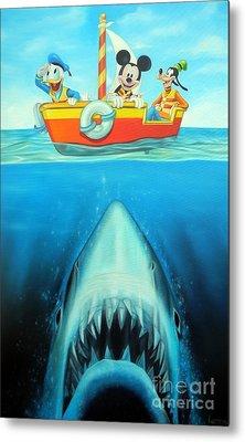 Jaws Metal Print by Michael Loeb