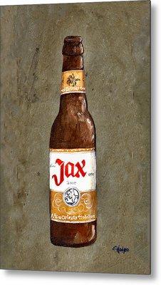 Jax Beer Bottle Metal Print by Elaine Hodges