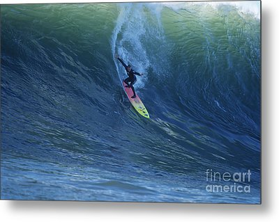 Jay Drops In At Mavericks Metal Print