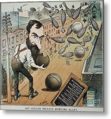 Jay Gould Cartoon, 1882 Metal Print by Granger