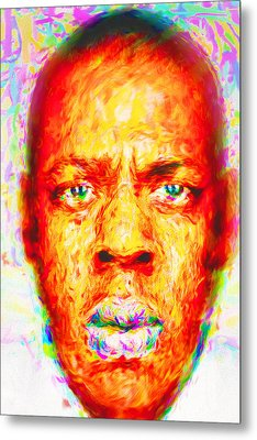 Jay-z Shawn Carter Digitally Painted Metal Print by David Haskett