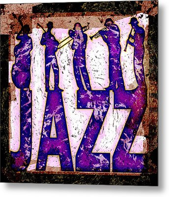 Jazz Abstract Metal Print by David G Paul
