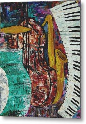 Jazz Metal Print by Andrea Vazquez-Davidson