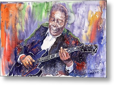 Jazz B B King 06 Metal Print by Yuriy  Shevchuk