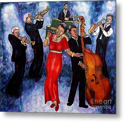 Jazz Band Metal Print by Linda Marcille