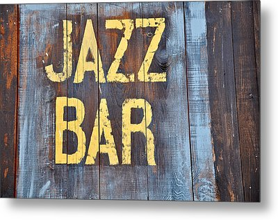 Jazz Bar Metal Print by Keith Sanders