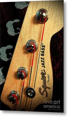 Jazz Bass Headstock Metal Print