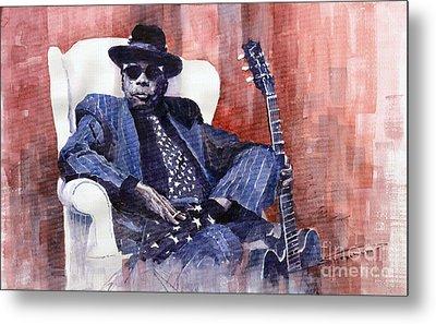 Jazz Bluesman John Lee Hooker 02 Metal Print