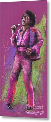 Jazz James Brown Metal Print