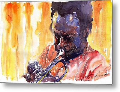 Jazz Miles Davis 8 Metal Print by Yuriy  Shevchuk