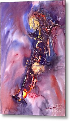 Jazz Miles Davis Electric 3 Metal Print by Yuriy  Shevchuk