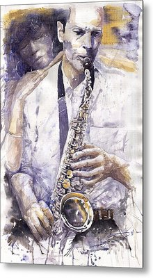 Jazz Muza Saxophon Metal Print by Yuriy  Shevchuk