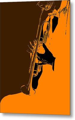 Jazz Metal Print by Naxart Studio