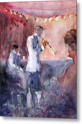 Jazz Nights Metal Print by Faruk Koksal