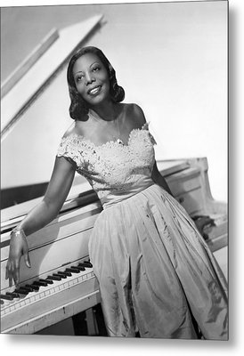 Jazz Pianist Mary Lou Williams Metal Print by Underwood Archives