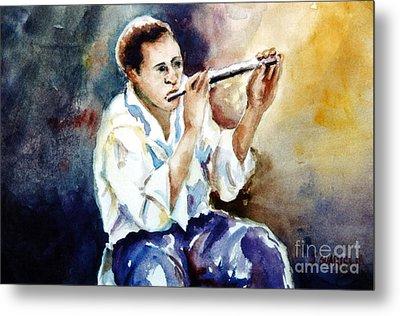 Jazz Player Metal Print by Joyce A Guariglia