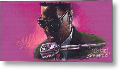 Jazz. Ray Charles.1. Metal Print by Yuriy  Shevchuk