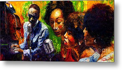Jazz  Ray Song Metal Print by Yuriy  Shevchuk