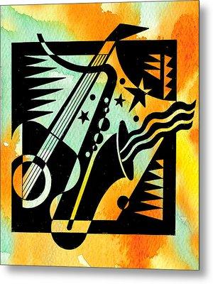 Jazz Relaxation Metal Print